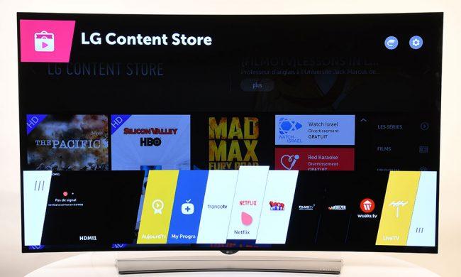 Interface TV LG 65EG960V