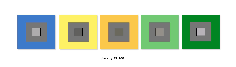 Résultats de balance des blancs du Samsung Galaxy A3