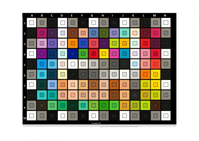 Mire Color Checker pour le Huawei P9