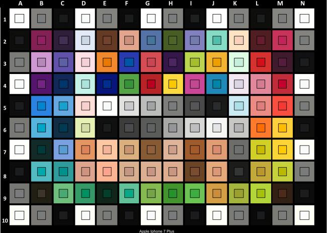 Mire Color Checker, pour contrôler les couleurs.