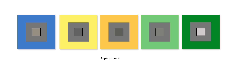 Résultat de balance des blancs avec l'iPhone 7 d'Apple