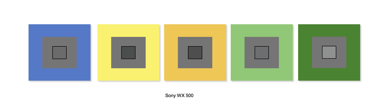 Sony WX500 Balance des blancs