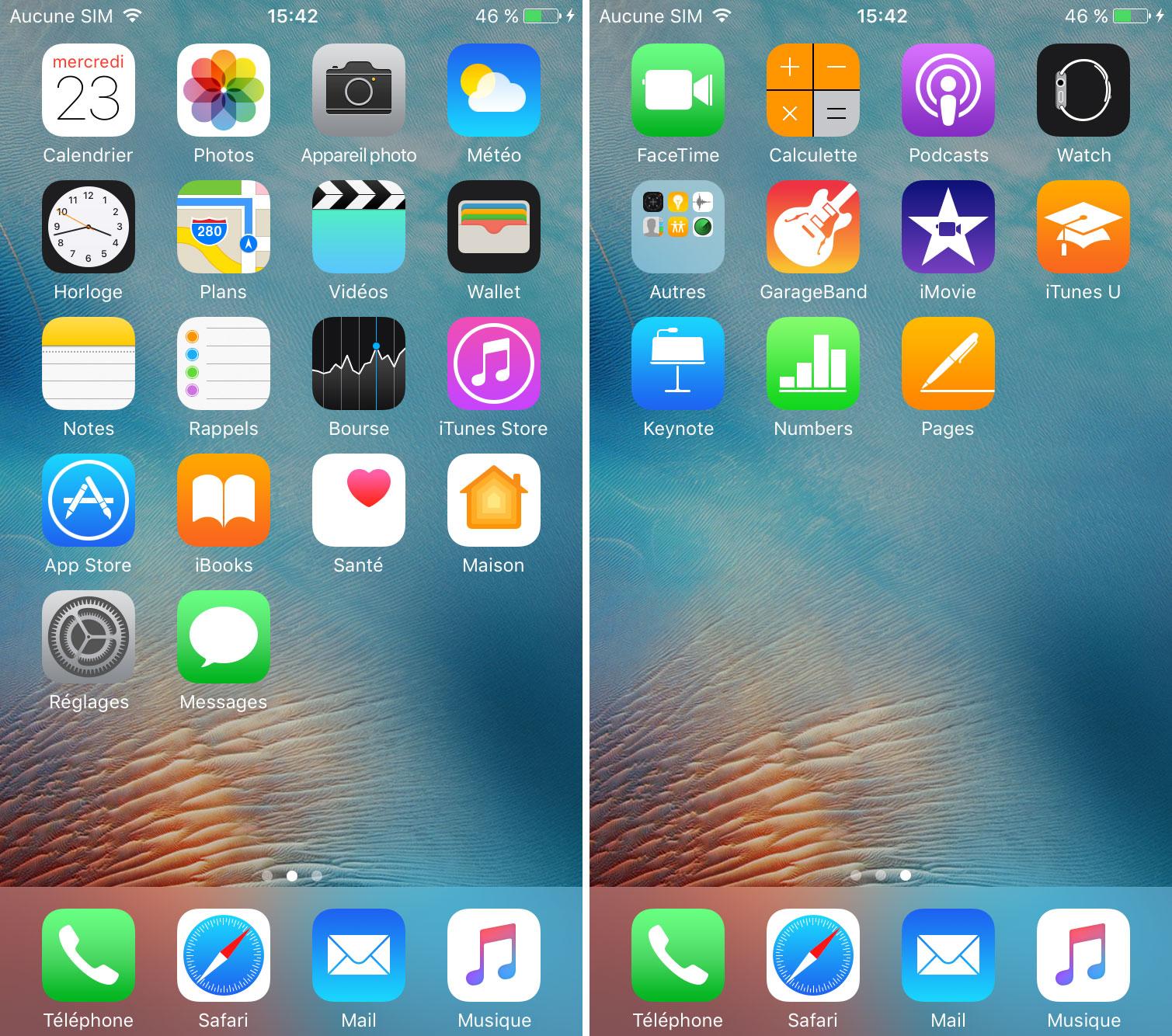 interface iPhone 7