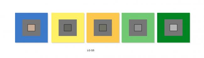 LG G5 : balance des blancs