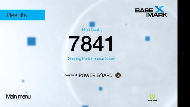 Basemark II, qualité haute avec Huawei P9