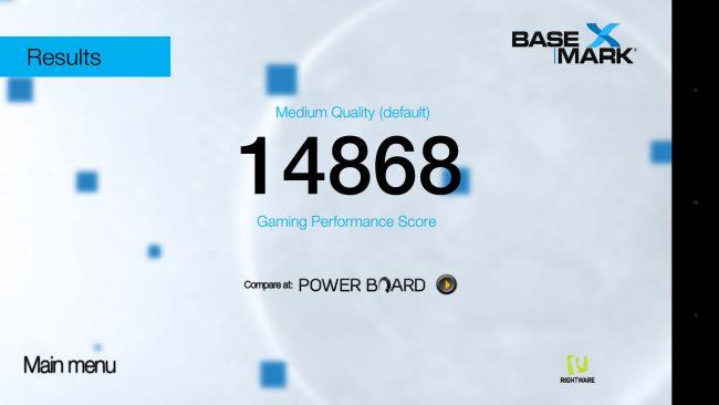 Basemark II, qualité médium avec Huawei P9