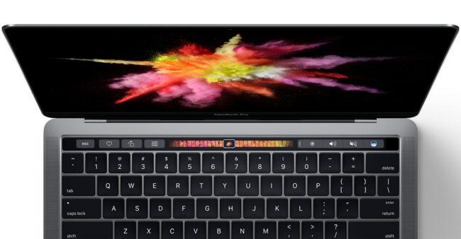 La barre OLED du nouveau Macbook Pro 2016