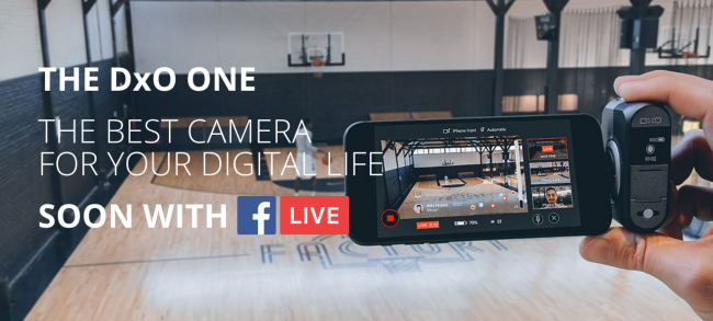 dxo one facebook live