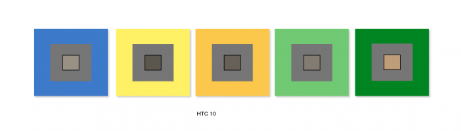 Balance des blancs du HTC 10