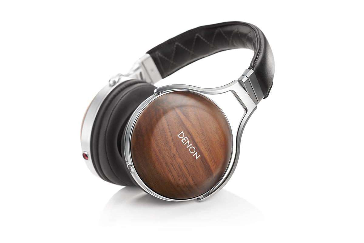 bandeau Denon AH-D7200, un casque audiophile en bois véritable