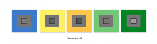Balance des blancs du Lenovo Moto G4