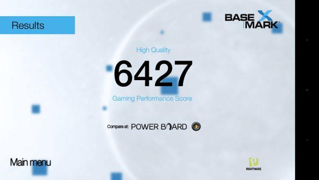 Basemark avec le Lenovo Moto G4