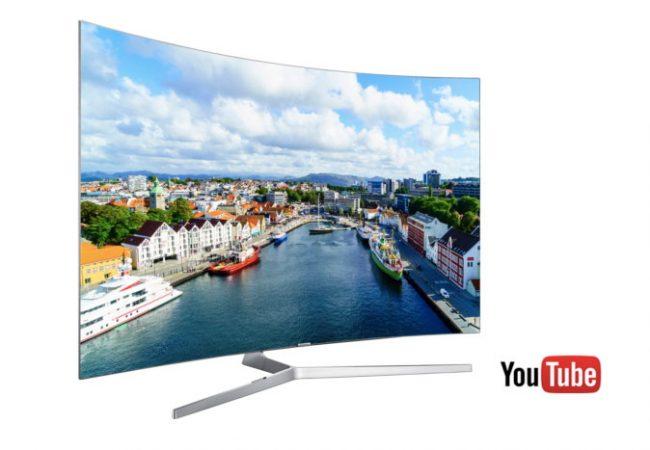 Support de YouTube HDR sur les TV Samsung