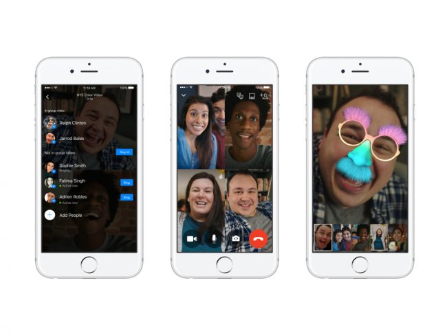 video chat groupe facebook messenger