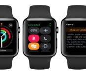 Un mode Cinéma pour l'Apple Watch