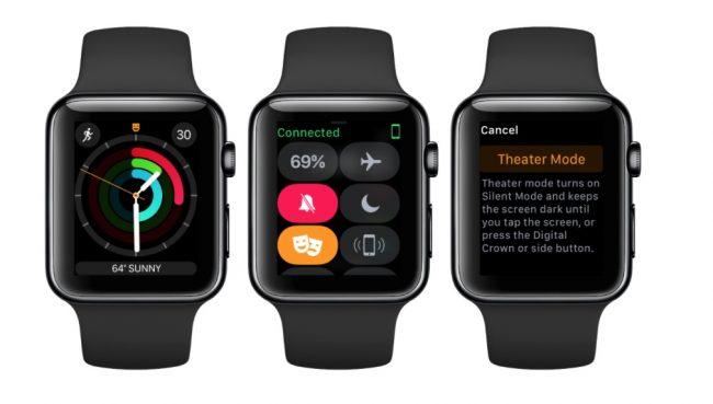 apple watch mode cinema