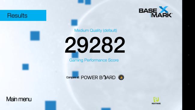 LG G5 : score Basemark X (Medium)