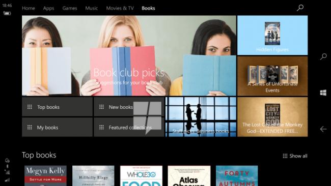 "Rayon ""Livres"" du Windows Store"