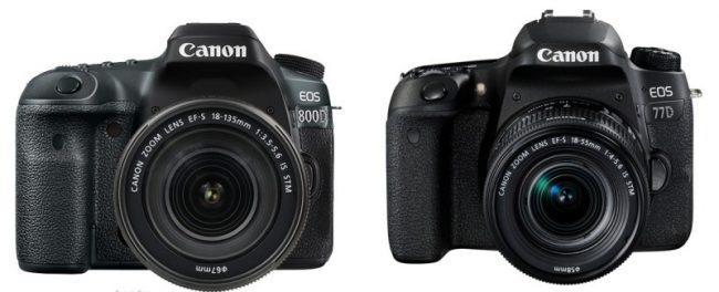Canon EOS 800D & 77D