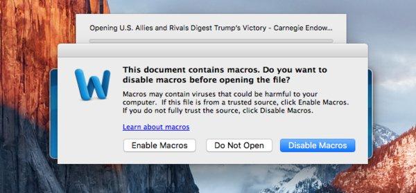 Macro Word virus Mac