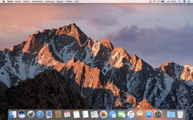 Interface du MacBook Pro