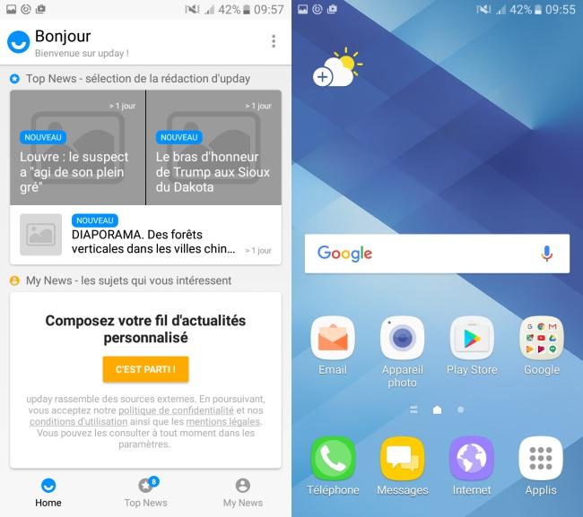 Samsung Galaxy A3 (2017) : bureau