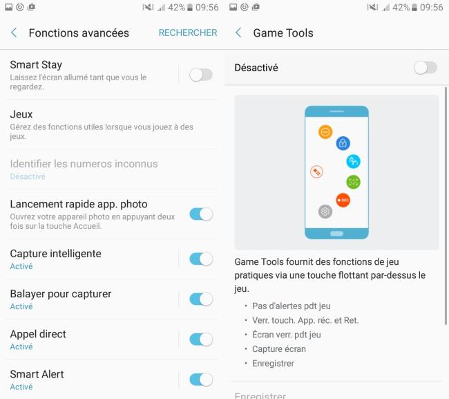 Samsung Galaxy A3 (2017) : paramètres