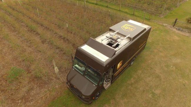 Camion UPS pour la livraison par drone