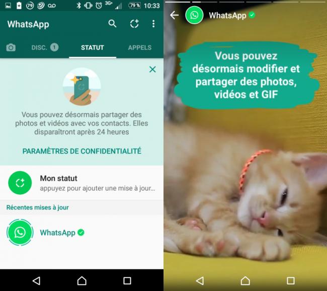 WhatsApp Revoit Son Système De Statut En S'inspirant Des