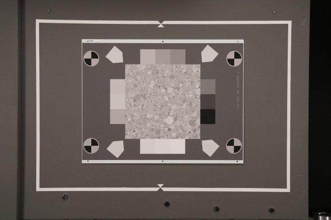 Mire de texture à 6400 ISO