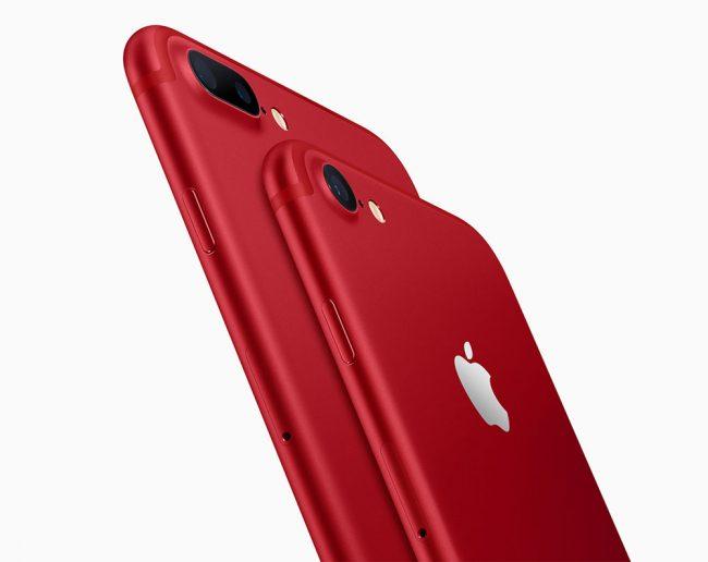 Apple lance des iPhone 7 et 7 Plus rouges (Product Red Special ...