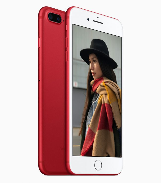 Apple iPhone 7 et 7 Plus Product Red Edition