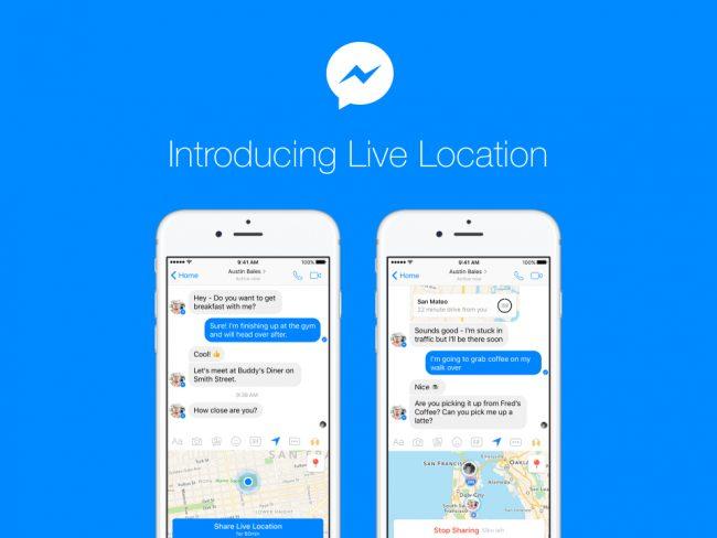 Live Location pour Facebook Messenger