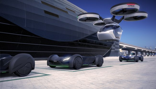 salon de gen ve concept pop up une voiture autonome qui se transforme en drone. Black Bedroom Furniture Sets. Home Design Ideas