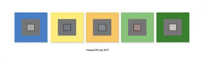 Balance des blancs du Huawei P8 Lite 2017