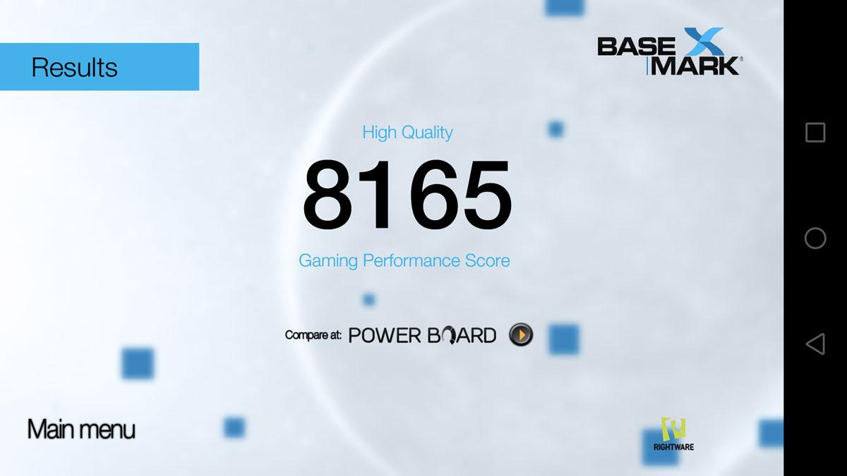 Basemark OS sur le Huawei P8 Lite 2017