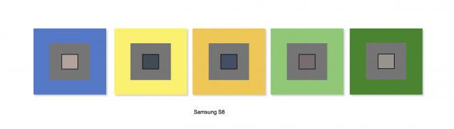 Balance des blancs du Samsung Galaxy S8