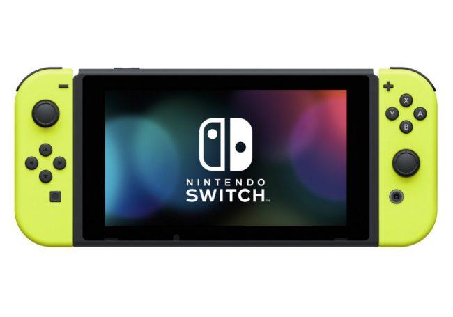 Nintendo Swtich avec Joy-Con jaunes