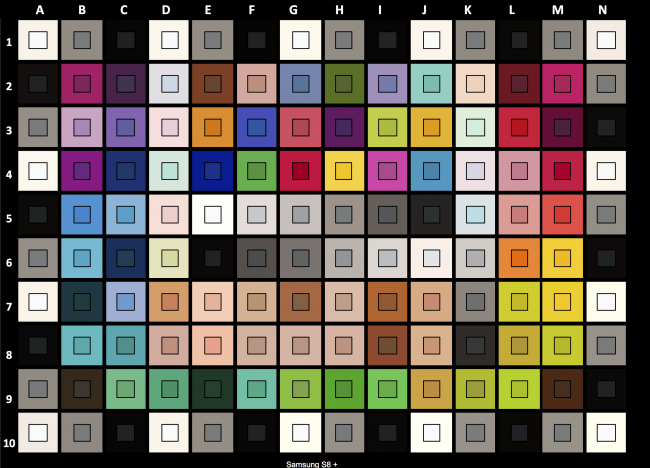 Samsung Galaxy S8+ : respect des couleurs