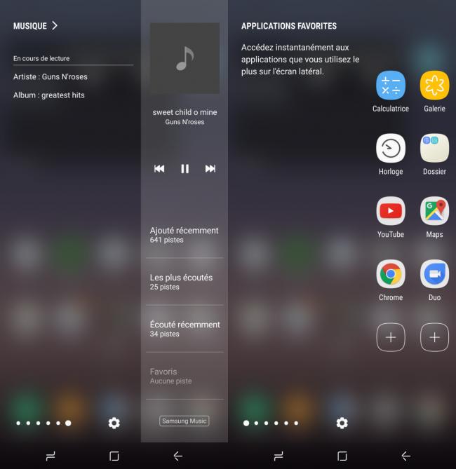 Samsung Galaxy S8+ : interface utilisateur