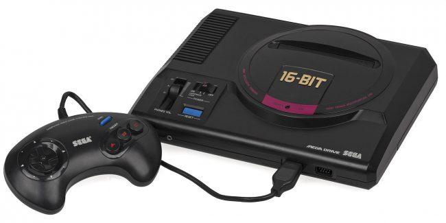 La première Sega Megadrive, ici dans sa version japonaise, sortie en 1988 au Japon.