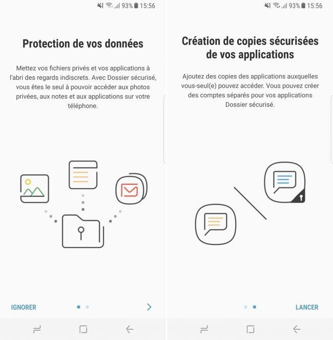Dossiers sécurisés - Samsung Galaxy S8
