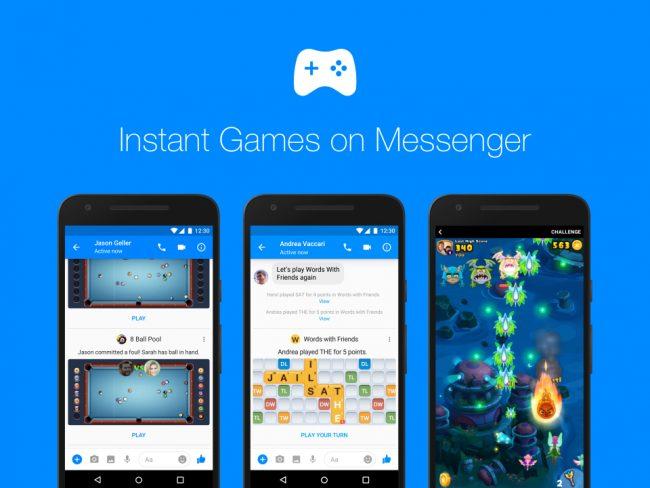 instant games facebook messenger