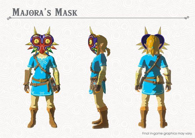 Link avec le Majora's Mask dans The Legend of Zelda : Breath of the Wild