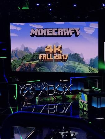 E3 2017 : Minecraft 4K ©Fanny Bouton