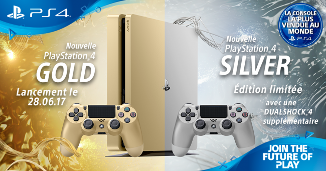 PS4 Slim éditions Gold et Silver