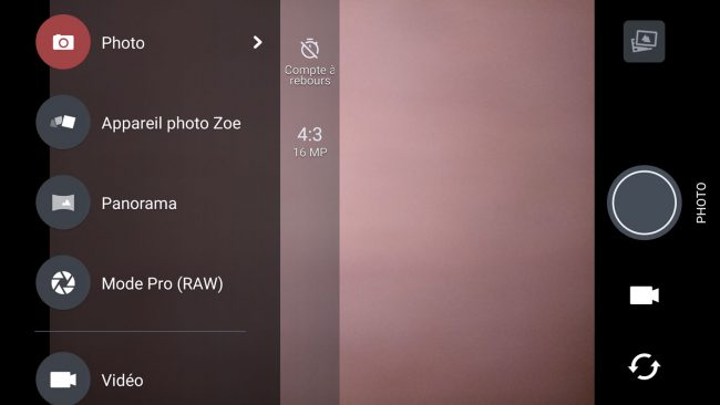 Interface photo HTC U Play