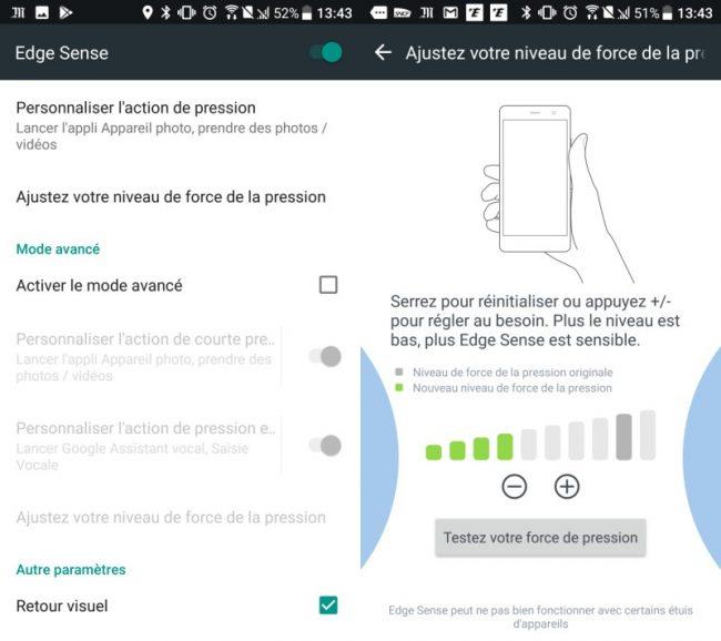 HTC U11 : interface