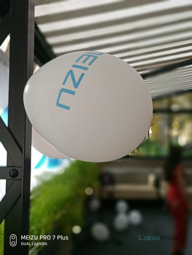 Le mode bokeh du Meizu Pro 7