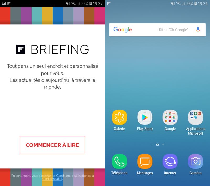 Samsung Galaxy J3 (2017) : interface utilisateur